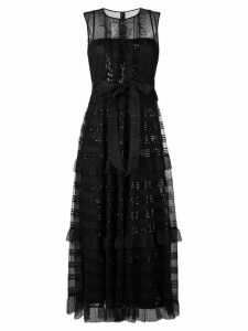 Red Valentino microsequin tulle dress - Black