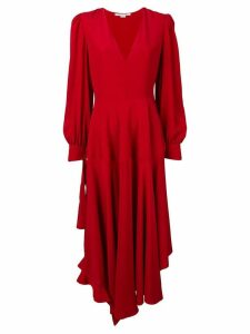 Stella McCartney deep V asymmetric hem dress - Red