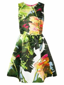 Blugirl floral flared dress - Green