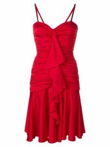 Moschino frill-trim flared dress