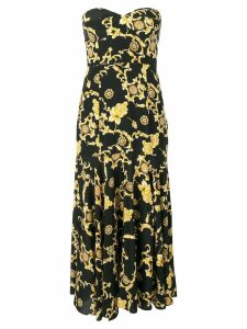 Veronica Beard floral print midi dress - Black