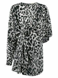 Saint Laurent leopard print dress - Black