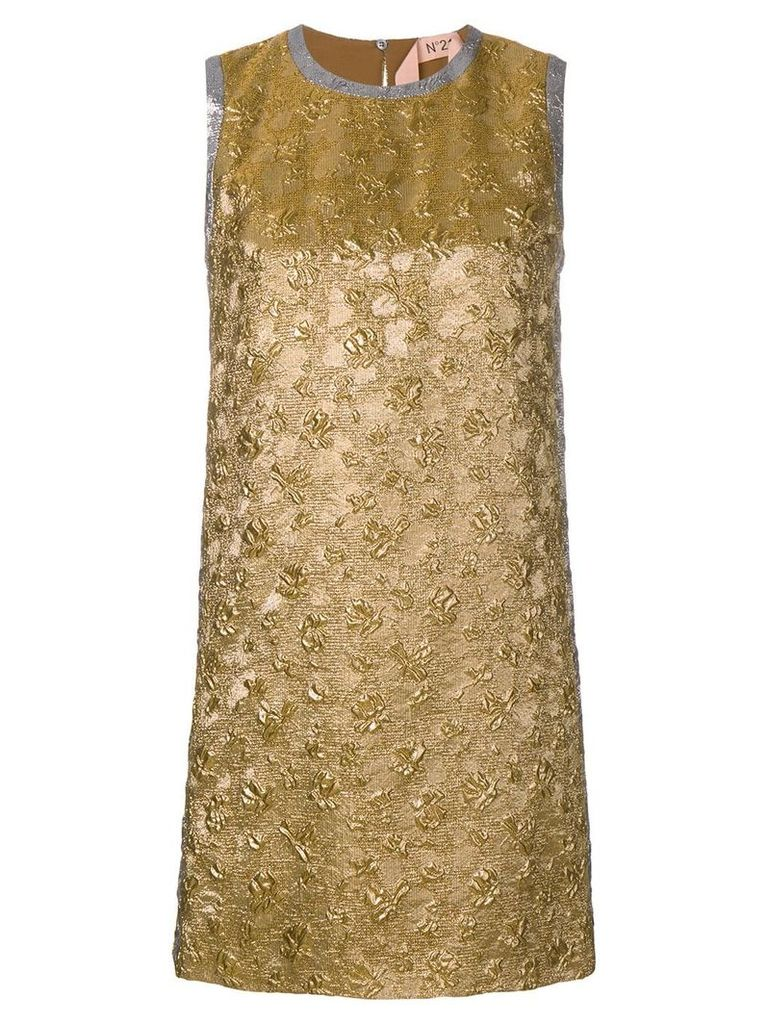 Nº21 brocade sleeveless mini dress - Gold