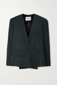 Prada - Printed Stretch-jersey Turtleneck Top - Yellow