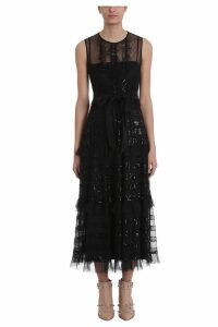 RED Valentino Point Desprit Tulle Long Dress