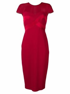 Max Mara short-sleeved midi dress - Red