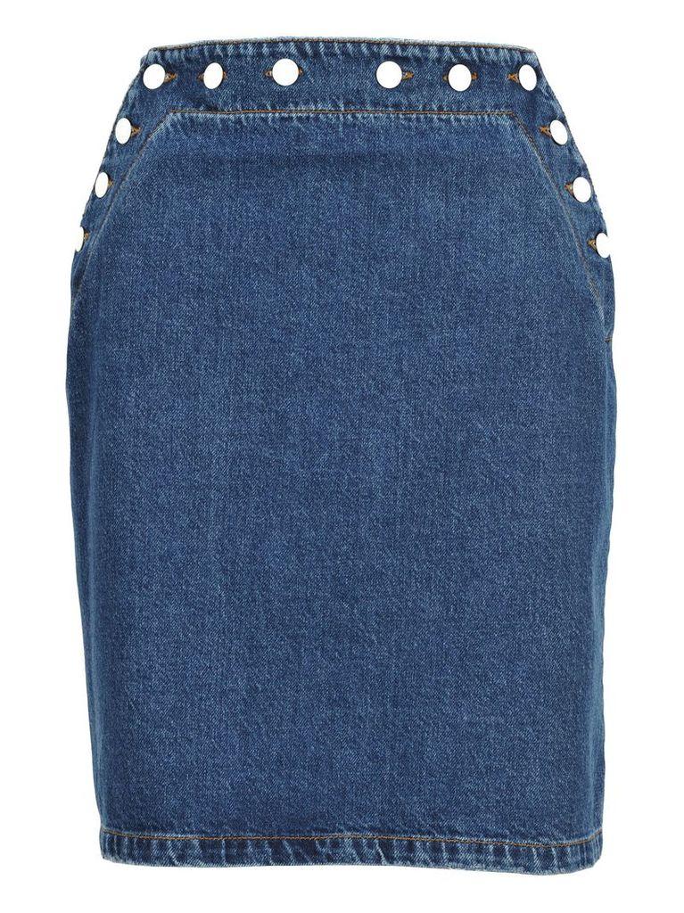 Msgm Marine Denim Skirt
