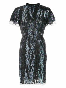 Haney Syd sequined mini dress - Blue