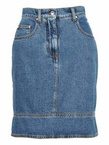 Msgm Msgm Multi Pockets Denim Skirt
