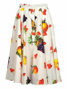 Msgm Msgm Fruits Print Midi Skirt