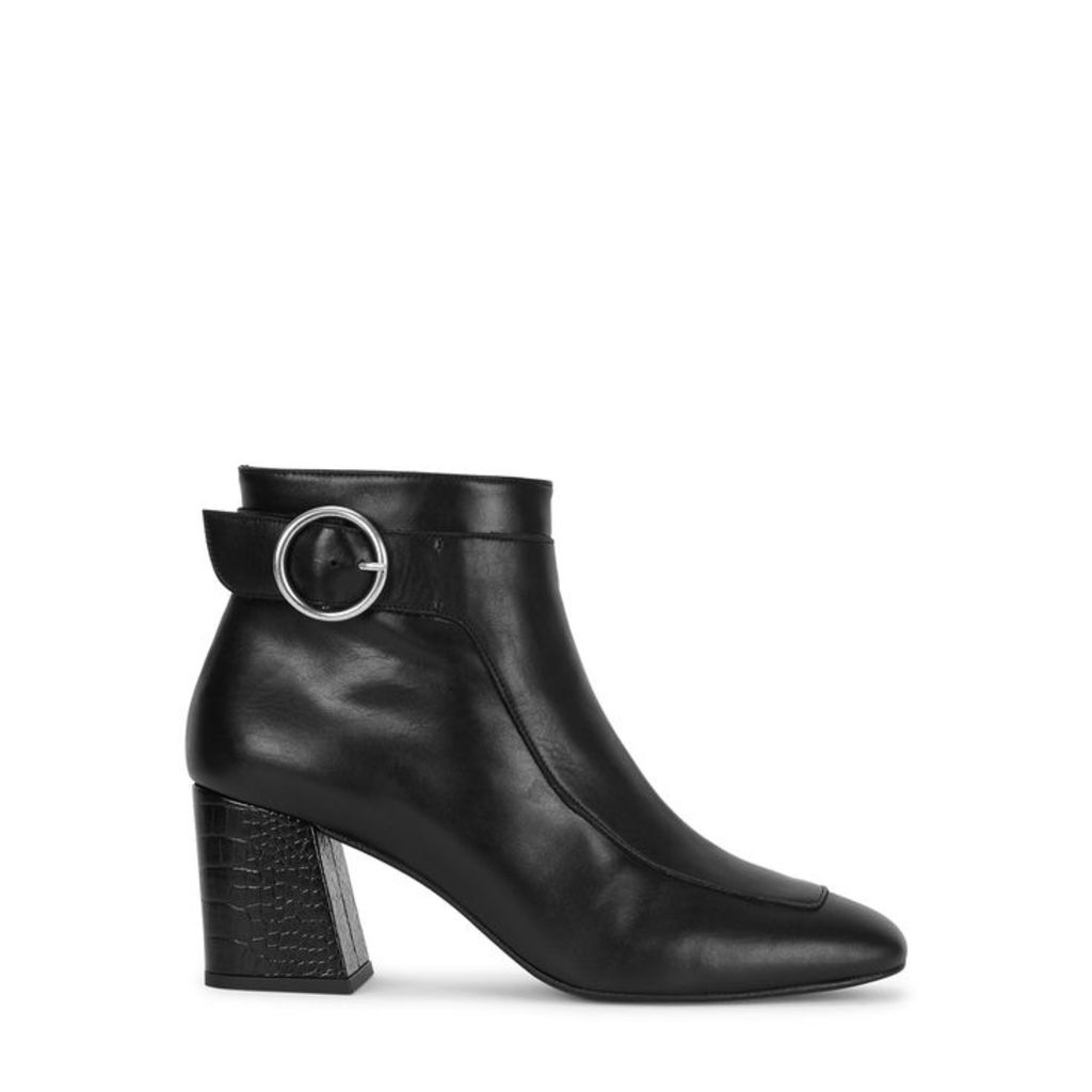 Freda Salvador Hendrix 65 Black Leather Ankle Boots
