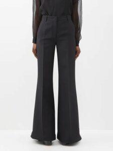 Fendi - Logo Print Stretch Jersey T Shirt - Womens - Black Gold