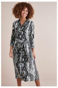 Womens Next Snake Print Shirt Dress -  Animal