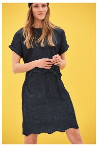 Womens Next Navy Cutwork Embroidered Dress -  Blue