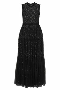 Needle & Thread - Clover Sequin-embellished Embroidered Tulle Gown - Charcoal