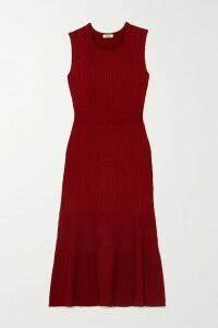 Reem Acra - Crystal-embellished Draped Silk-chiffon Gown - Navy
