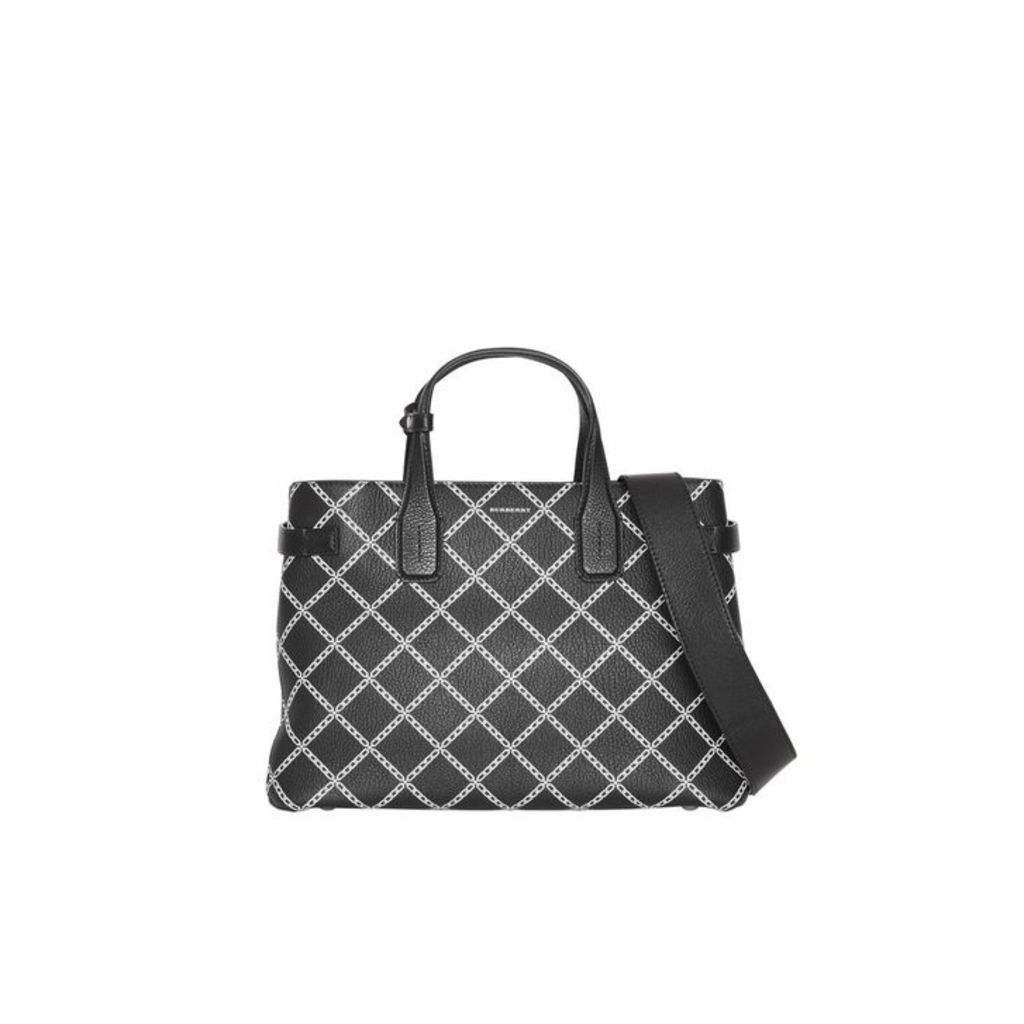 Burberry The Medium Banner In Link Print Leather