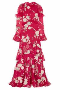 Erdem - Evangeline Embellished Floral-embroidered Silk-organza Gown - UK16