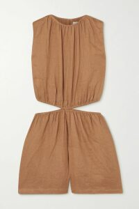 Oscar de la Renta - Metallic Appliquéd Silk-crepe Gown - Yellow