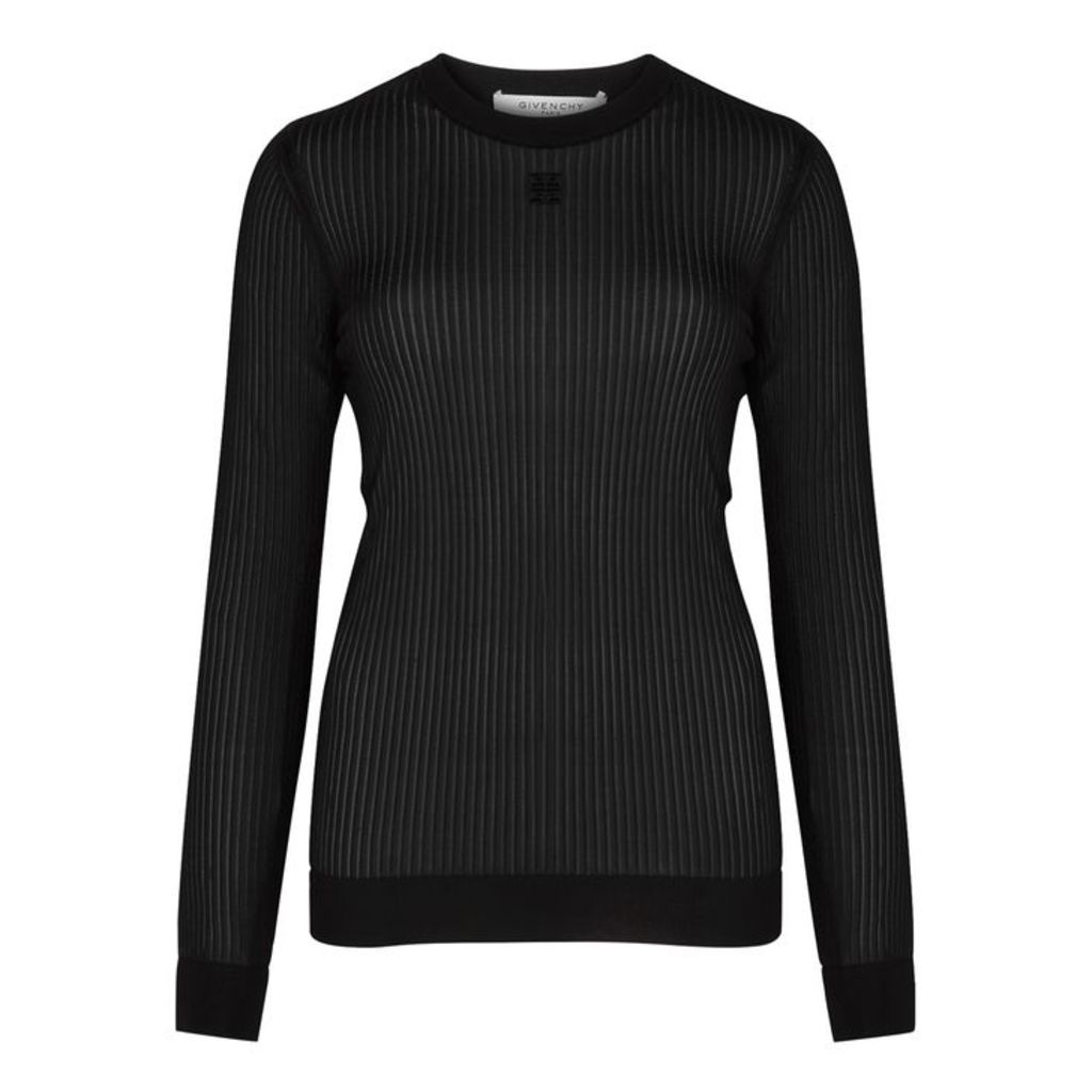 Givenchy Black Fine-knit Top