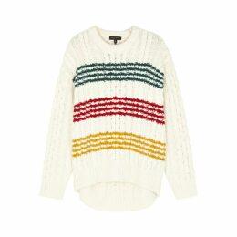 Rag & Bone Mindy Cream Striped Wool Jumper