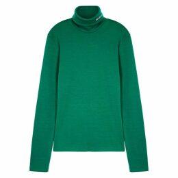 Calvin Klein 205W39NYC Green Roll-neck Wool Jumper