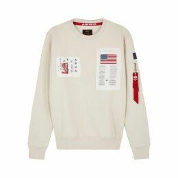 Alpha Industries Blood Chit Appliquéd Cotton-blend Sweatshirt