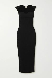 Cami NYC - Polka-dot Silk-charmeuse Midi Skirt - Black