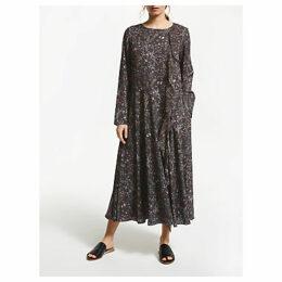 Modern Rarity Archive Print Ruffle Dress, Black