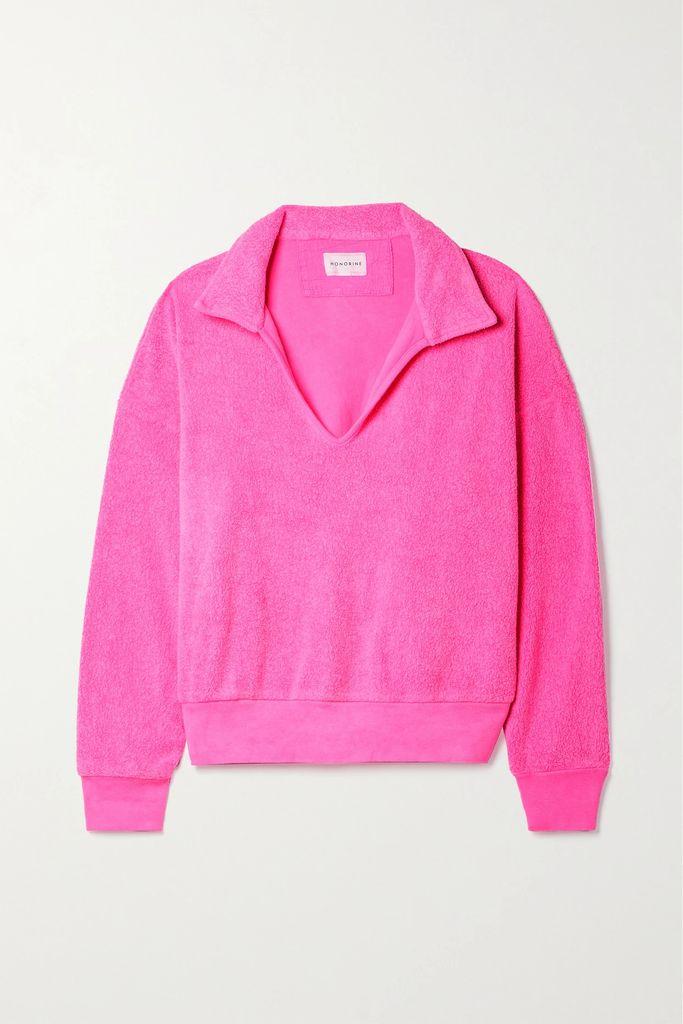 The Elder Statesman - Striped Cashmere Sweater - Gray