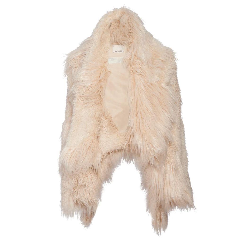 WtR - Galadriel Gold Ruffle Sleeveless High Neck Top
