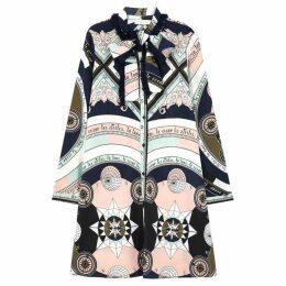 Tory Burch Printed Silk Shirt Dress
