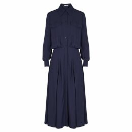 BOSS Heteana Navy Midi Shirt Dress