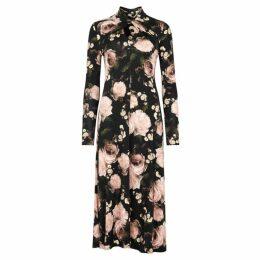 Erdem Nolene Floral-print Jersey Midi Dress