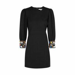 Veronica Beard Amery Embellished Stretch-jersey Dress