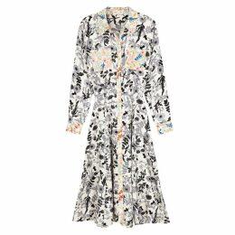 Stine Goya Renee Floral-print Satin Shirt Dress