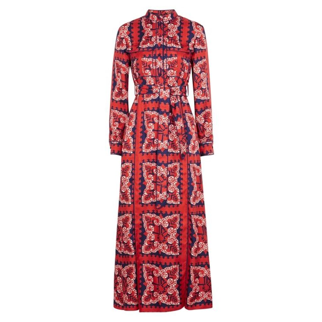 Valentino Floral-print Silk Twill Shirt Dress