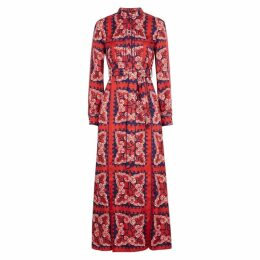 Valentino Floral-print Silk Twill Shirt Dress