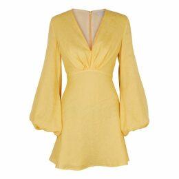 KALITA Utopia Yellow Linen Mini Dress