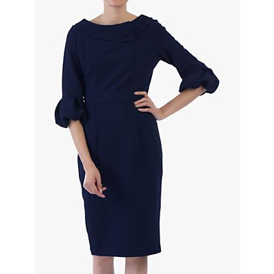 Jolie Moi Bell Sleeve Collar Dress