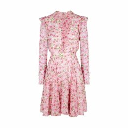 Giambattista Valli Floral-print Silk Dress