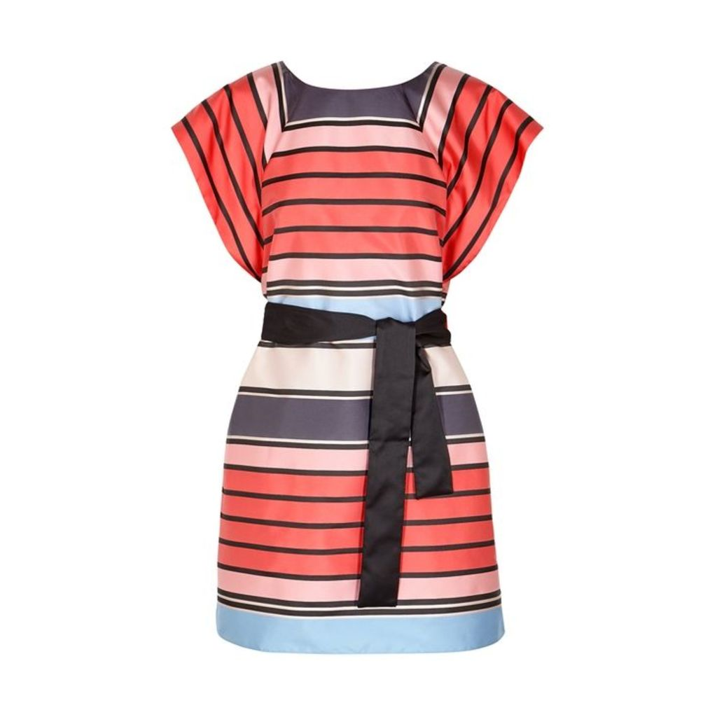 Emporio Armani Striped Taffeta Mini Dress