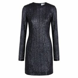 Galvan Dusk Navy Sequin Mini Dress