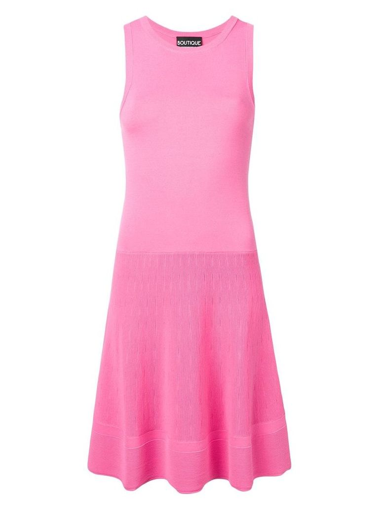 Boutique Moschino sleeveless stretch fit dress - Pink