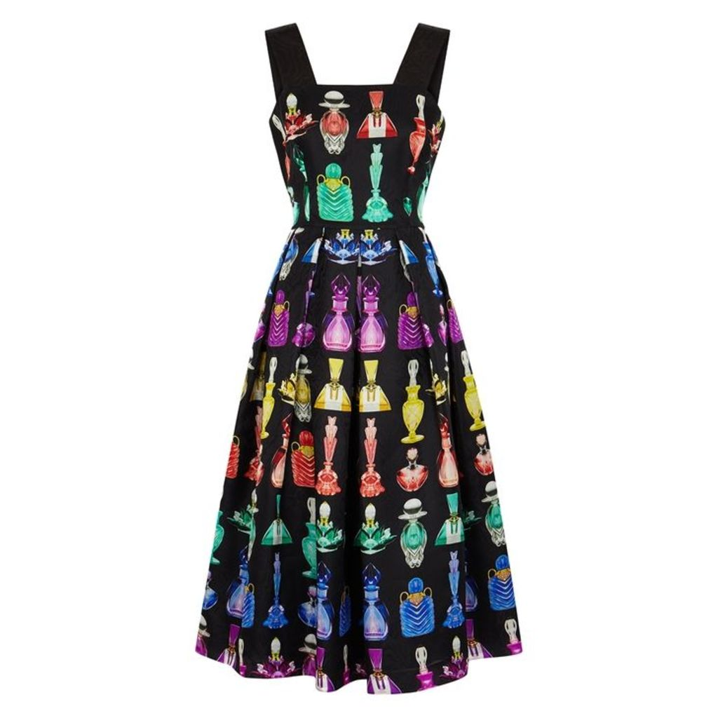 Mary Katrantzou Crystal Printed Jacquard Silk Dress