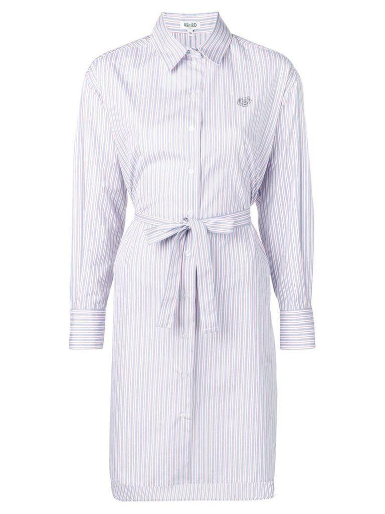 Kenzo striped shirt-style dress - Blue