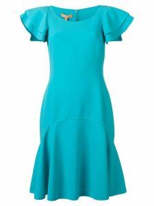 Michael Kors Collection short sleeved dress - Blue