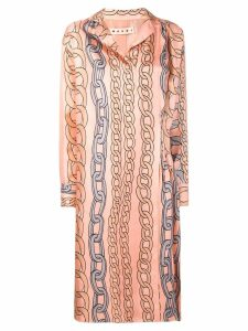Marni chain print dress - Pink