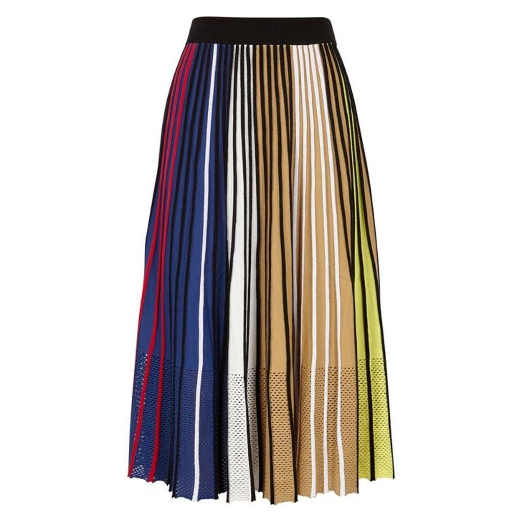 Kenzo Striped Stretch-jersey Midi Skirt