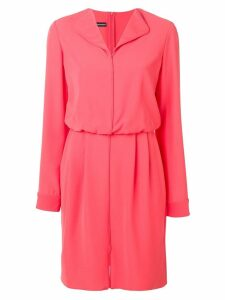 Emporio Armani v-neck shift dress - Pink